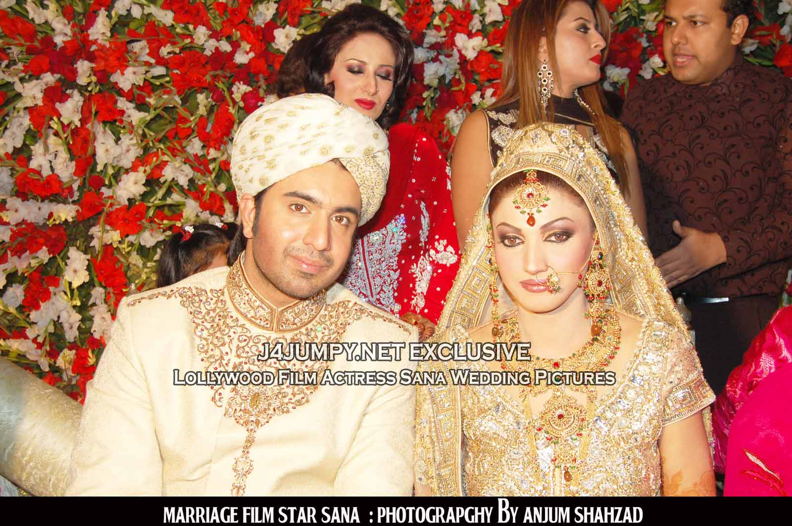 Lollywood Film Actress Sana Wedding Pictures