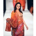 What made his collection stand out on Tuesday were the daring blouses and cholis.