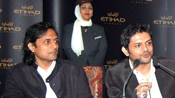 Bilal Maqsood and Faisal Kapadia are the new brand ambassadors for Etihad Airways.