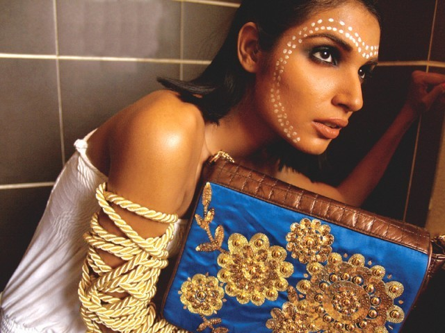 Colourful and in-your-face, Mahin Hussain's accessories continue to make a fashion statement. PHOTO: MARIAM HUSSAIN