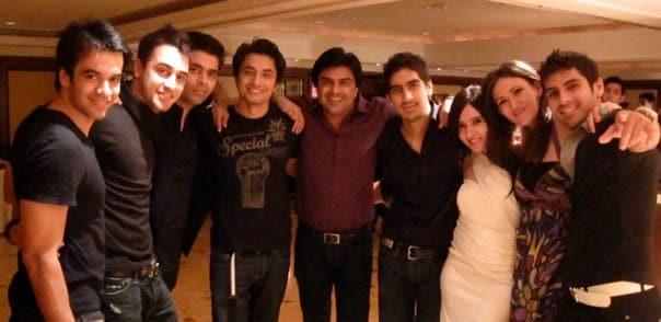 Punit Malhotra, Imran Khan, Karan Johar, Ali Zafar, Sameer Soni, Ayan Mukherji, don't know, Ayesha Fazli (Ali Zafar wife), Sameer Dattani